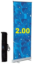 BANNER ROLL SCREEN UP STAND 90CM X 2MTS + MALETIN BLACK