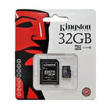 Kingston - Memoria MicroSD 32GB Clase 10 + Adaptador SD - Negro