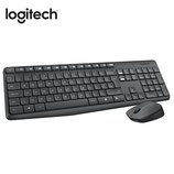 TECLADO LOGITECH + MOUSE MK235 WIRELESS USB SP BLACK