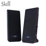 PARLANTE SKILL 2.0 MULTIMEDIA BLACK 3.5MM/USB POWER