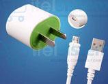 CARGADOR + CABLE USB  PARA CELULARES