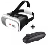 Lentes Realidad Virtual 3d Vr Box compatible iphone y android + Control Bluetooth