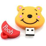 Generic - USB 8GB Winnie Pooh - Naranja/Rojo