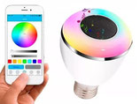 FOCO PARLANTE BLUETOOTH LUZ LED PARA ANDROID / IPHONE