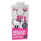 AUDIFONO HELLO KITTY EARBUDS PINK/BLACK