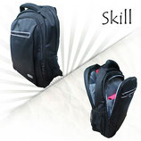 "MOCHILA SKILL P/NOTEBOOK BACKPACK 15.6"" BLACK/WHITE"