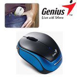 MOUSE GENIUS MICRO TRAVELER 9000R WIRELESS BLUE