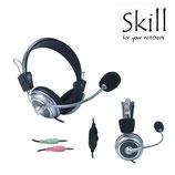 AUDIFONO C/MICROF. SKILL BLACK/SILVER