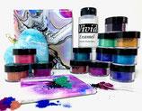 Bright Blooms Set +236ml Vivid Polypour + 12 colors 15ml + 1 FREE Vivid Enamel 236ml