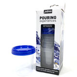 Pebeo Pouring Experiences 5 piece set Reusable measuring cups  + screw lids. 120ml