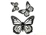 3D Butterfly Medium 13x10cm