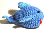 """Gehäkelte Fisch """"Blue Glu"""""""
