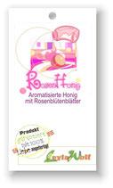 Rosenhonig - Honig mit Rosenblütenblättern