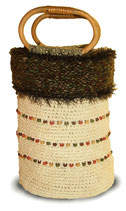 Taschen-Röhr mit Holzperlen