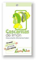 """""""Cascaritas de limón"""" - Gezuckerte Zitronenschalen"""