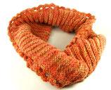 Orange Ringschal - gestrickt & gehäkelt