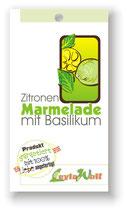 Zitronen-Marmelade mit Basilikum