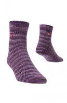 Alpaka Freizeitsocken violett