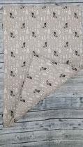 Baumwoll-Canvas Decke Groß Doppelseitig Natur Bäume und Socken