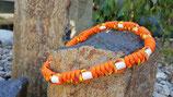 EM-Kette Orange - Muster Grün