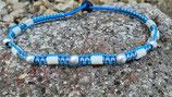 EM-Kette Blau - Blau - Silber