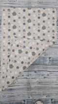 Baumwoll-Canvas Decke Groß Doppelseitig Natur Weihnachtskugeln
