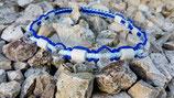 EM-Kette Hellblau - Blau - Weiß