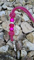 Pfeifenband Pink - Schwarz