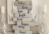 BELIVE  LOVE HOPE FAITH TRUST BRAVE MERCY BLESSED