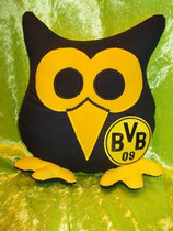 Fußballeule Dortmund schwarz