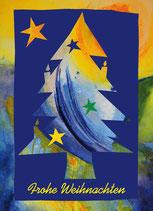 "Postkarte ""Christbaum Blau"""