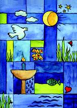 Kunstkarte (Faltkarte) »Glaubenszeichen«, 12 x 17 cm