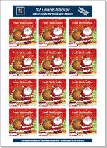 """Sticker-Bogen """"Frohe Weihnachten"""""""