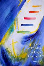 Sticker »Suche Frieden und jage ihm nach« Jahreslosung 2019