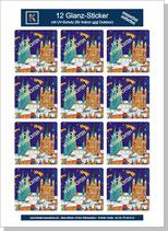 """Sticker-Bogen """"Weihnachtsstern"""""""