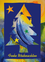 "Faltkarte ""Christbaum Blau"""