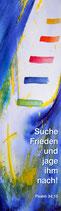 Banner, Textilposter »Suche Frieden und jage ihm nach« Jahreslosung 2019