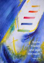 Postkarten »Suche Frieden und jage ihm nach« - Jahreslosung 2019