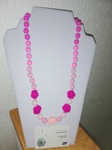 Still- Tragekette Silikon rosa-pink Blumen