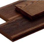 Thermo Esche, Terrassendielen, 21x130x3000 mm, fein/glatt, geölt, seitlich genutet