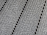 WPC Terrassendiele, beidseitig gebürstet, Grau, grob/fein, Vollprofil, 25x138x4000 mm