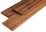 """Bambus, Terrassendielen, """"Select"""", 20x140x2200 mm, glatt/französisch, Coffee vorgeölt, seitlich genutet, 6.6 Laufmeter pro Packung"""
