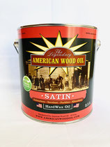 American Wood Oil Hartwachs-Öl, farblos, Satin (seidenmatt), 10 Liter