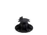 Stelzlager, Verstellbarkeit 6.5 - 14.5 cm, Polypropylen, schwarz, Durchmesser 20 cm