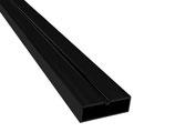 """Aluminium Unterkonstruktion """"flat"""" für geringe Aufbauhöhe, 20x60x4000 mm, schwarz"""