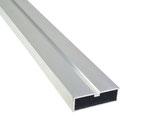 "Aluminium Unterkonstruktion ""flat"" für geringe Aufbauhöhe, 20x60x4000 mm, blank"