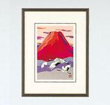 148-55 赤富士に飛翔 小