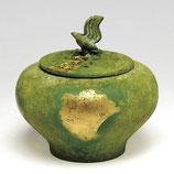 134-07 小鳥香炉 本金青銅色