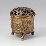161-03 松竹梅香炉 古銅色
