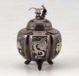 129-51 六面吉祥地紋香炉